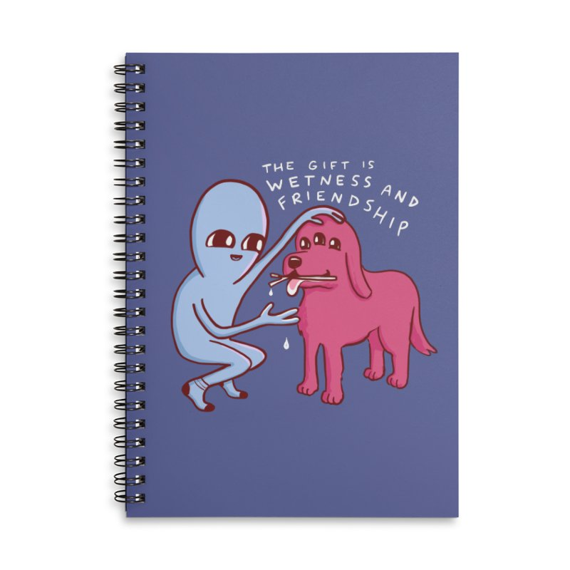 STRANGE PLANET SPECIAL PRODUCT: WETNESS AND FRIENDSHIP Accessories Lined Spiral Notebook by Nathan W Pyle