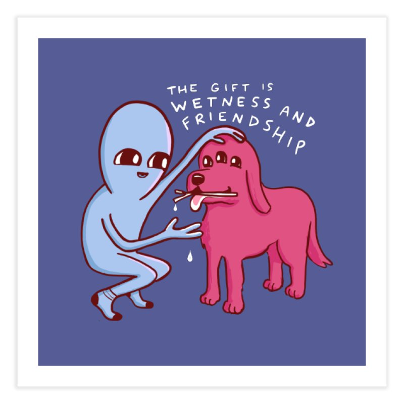 STRANGE PLANET SPECIAL PRODUCT: WETNESS AND FRIENDSHIP Home Fine Art Print by Nathan W Pyle
