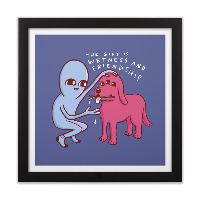 STRANGE PLANET SPECIAL PRODUCT: WETNESS AND FRIENDSHIP Home Framed Fine Art Print by Nathan W Pyle