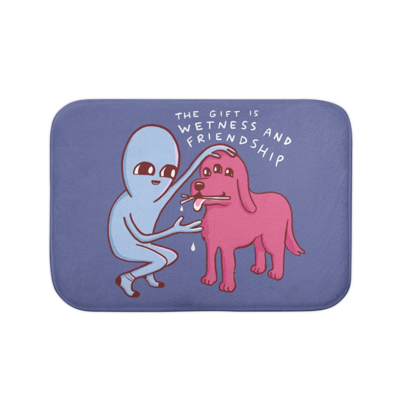 STRANGE PLANET SPECIAL PRODUCT: WETNESS AND FRIENDSHIP Home Bath Mat by Nathan W Pyle