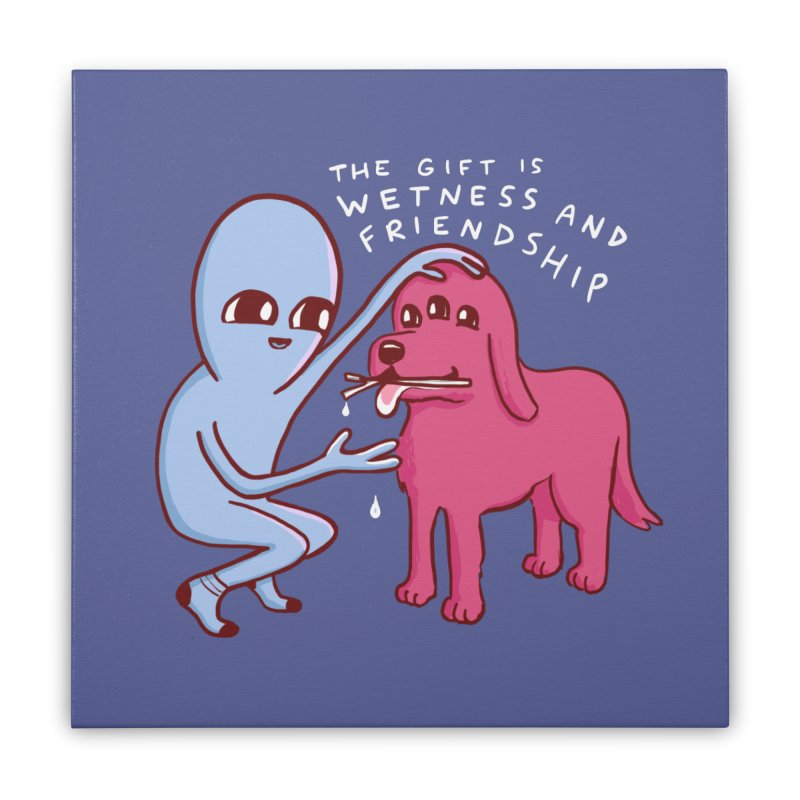 STRANGE PLANET SPECIAL PRODUCT: WETNESS AND FRIENDSHIP Home Stretched Canvas by Nathan W Pyle