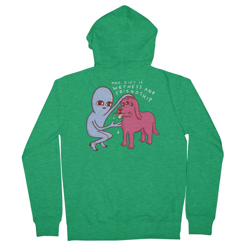 STRANGE PLANET SPECIAL PRODUCT: WETNESS AND FRIENDSHIP Men's Zip-Up Hoody by Nathan W Pyle