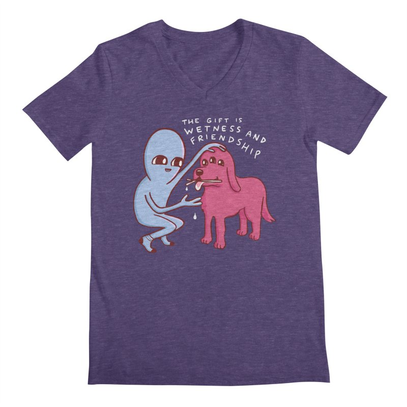STRANGE PLANET SPECIAL PRODUCT: WETNESS AND FRIENDSHIP Men's V-Neck by Nathan W Pyle