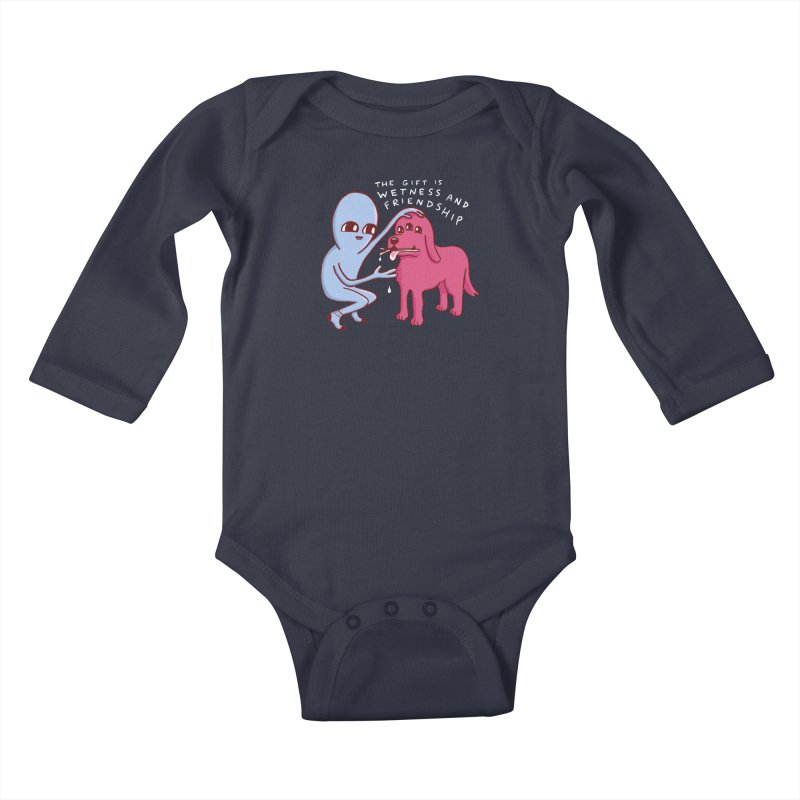 STRANGE PLANET SPECIAL PRODUCT: WETNESS AND FRIENDSHIP Kids Baby Longsleeve Bodysuit by Nathan W Pyle