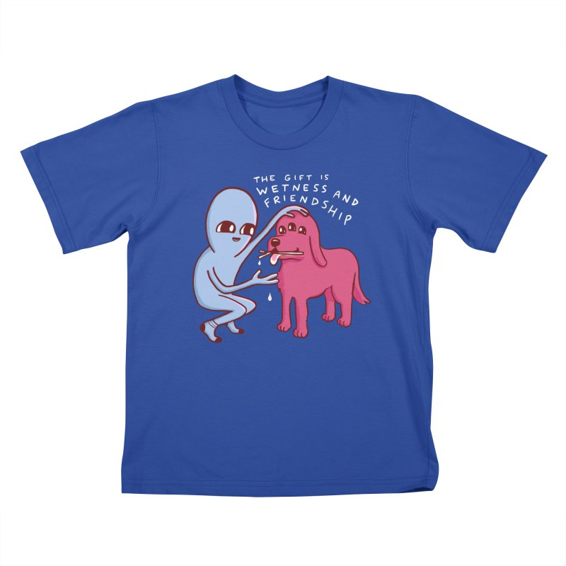 STRANGE PLANET SPECIAL PRODUCT: WETNESS AND FRIENDSHIP Kids T-Shirt by Nathan W Pyle