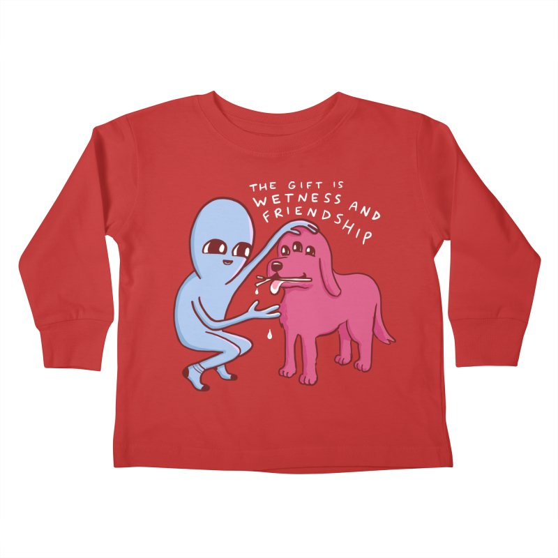 STRANGE PLANET SPECIAL PRODUCT: WETNESS AND FRIENDSHIP Kids Toddler Longsleeve T-Shirt by Nathan W Pyle