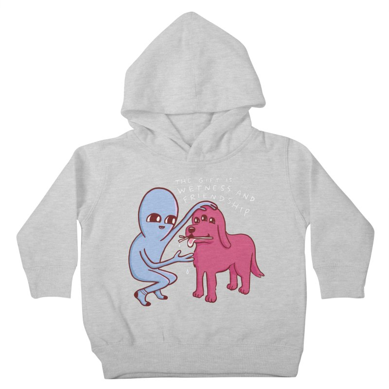 STRANGE PLANET SPECIAL PRODUCT: WETNESS AND FRIENDSHIP Kids Toddler Pullover Hoody by Nathan W Pyle