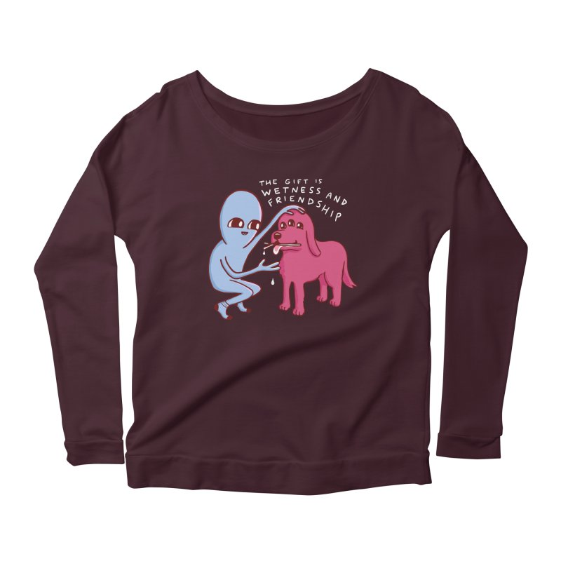 STRANGE PLANET SPECIAL PRODUCT: WETNESS AND FRIENDSHIP Women's Scoop Neck Longsleeve T-Shirt by Nathan W Pyle