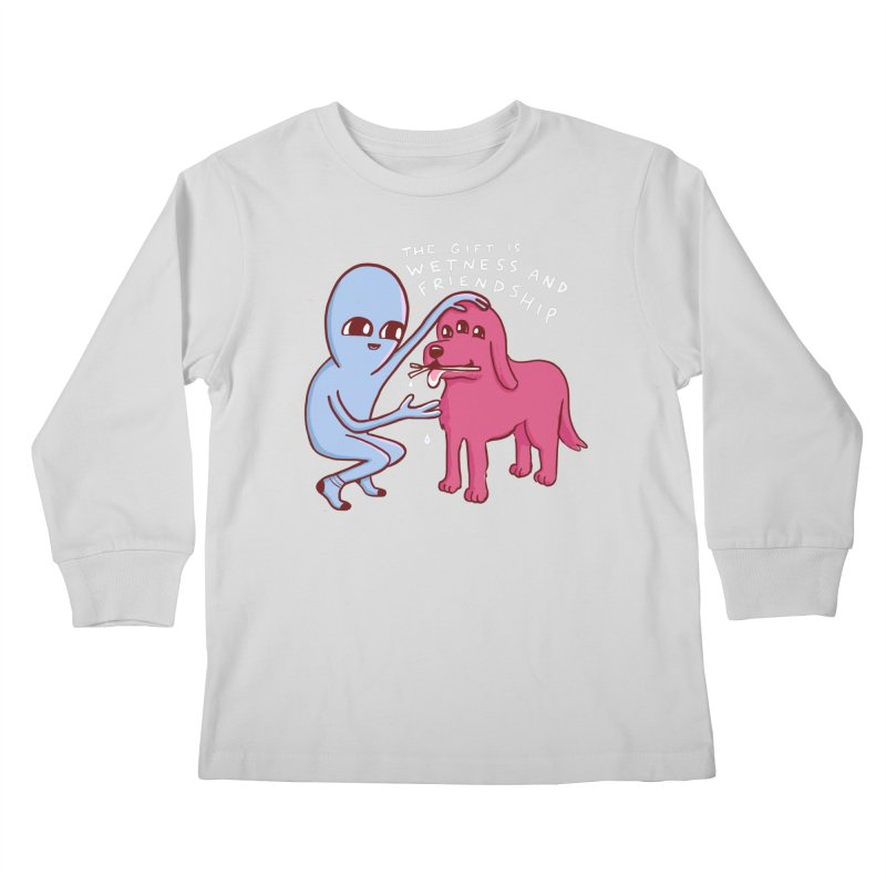 STRANGE PLANET SPECIAL PRODUCT: WETNESS AND FRIENDSHIP Kids Longsleeve T-Shirt by Nathan W Pyle