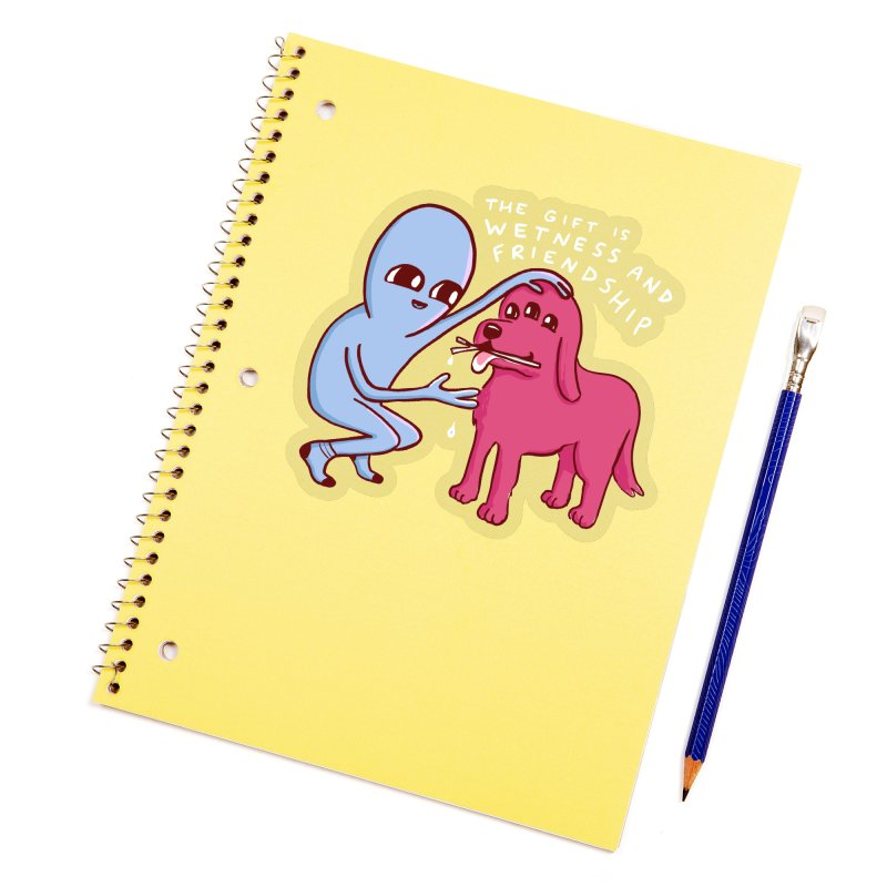 STRANGE PLANET SPECIAL PRODUCT: WETNESS AND FRIENDSHIP Accessories Sticker by Nathan W Pyle