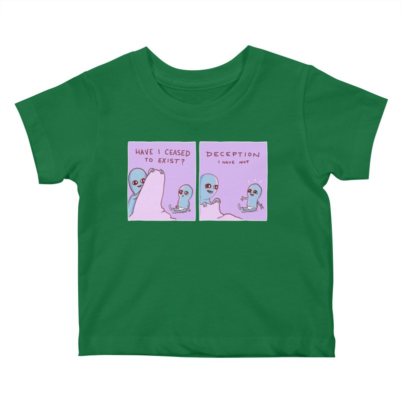 STRANGE PLANET SPECIAL PRODUCT: HAVE I CEASED TO EXIST? DECEPTION I HAVE NOT Kids Baby T-Shirt by Nathan W Pyle Shop | Strange Planet Store | Thread