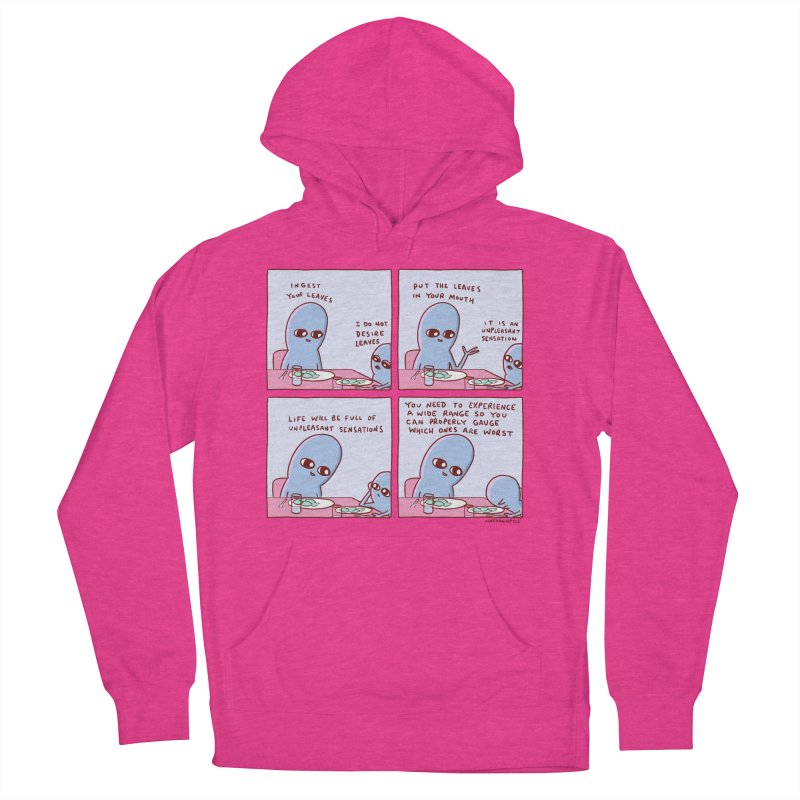 STRANGE PLANET: UNPLEASANT SENSATIONS Women's French Terry Pullover Hoody by Nathan W Pyle