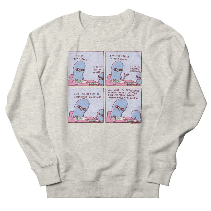 STRANGE PLANET: UNPLEASANT SENSATIONS Men's French Terry Sweatshirt by Nathan W Pyle