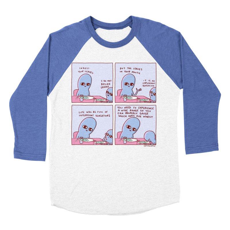 STRANGE PLANET: UNPLEASANT SENSATIONS Women's Baseball Triblend Longsleeve T-Shirt by Nathan W Pyle
