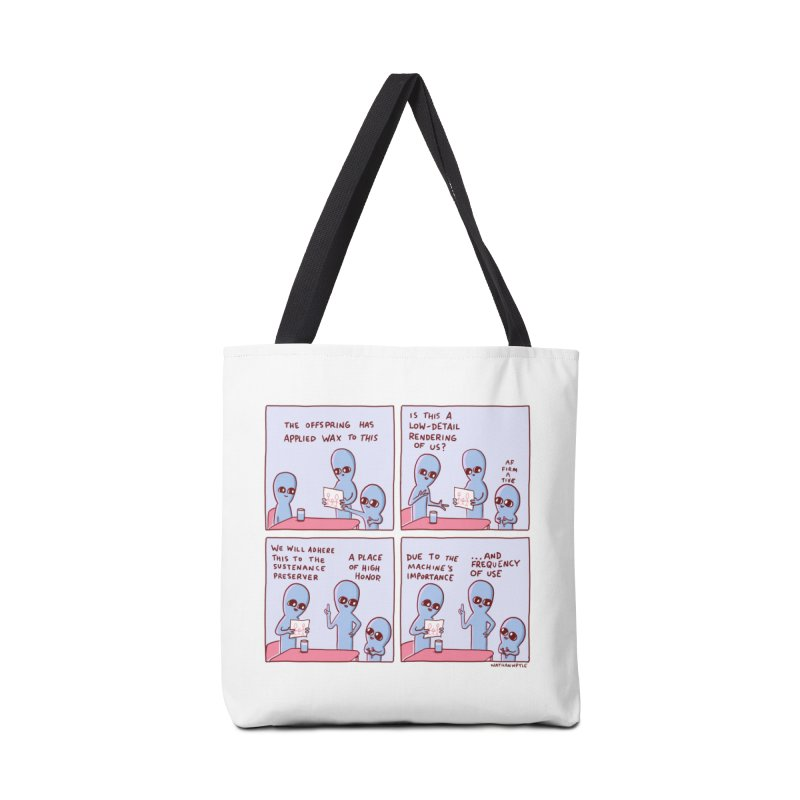 STRANGE PLANET: LOW DETAIL RENDERING Accessories Tote Bag Bag by Nathan W Pyle