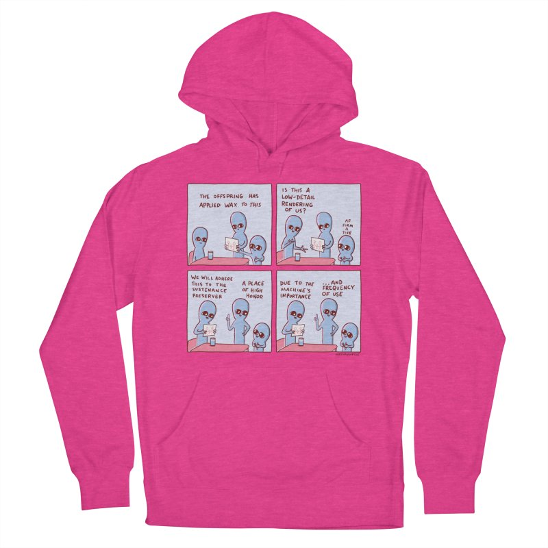 STRANGE PLANET: LOW DETAIL RENDERING Women's French Terry Pullover Hoody by Nathan W Pyle