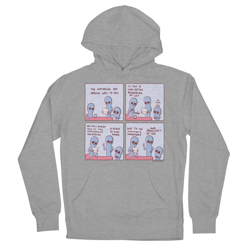 STRANGE PLANET: LOW DETAIL RENDERING Men's French Terry Pullover Hoody by Nathan W Pyle