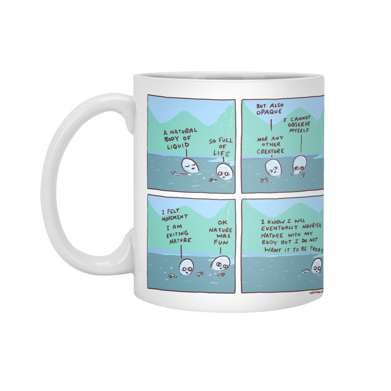 STRANGE PLANET: I AM EXITING NATURE Accessories Standard Mug by Nathan W Pyle
