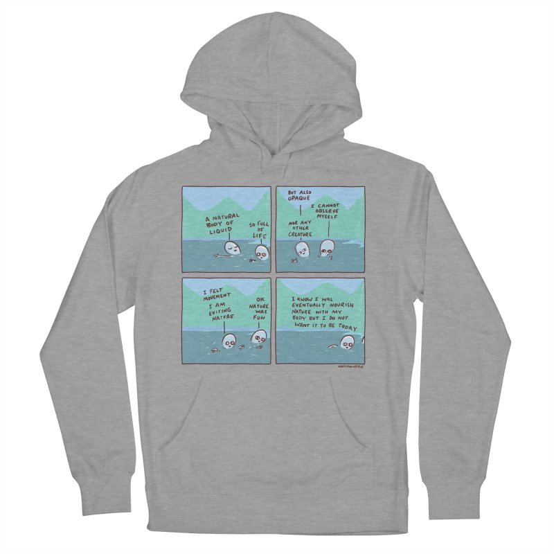STRANGE PLANET: I AM EXITING NATURE Women's French Terry Pullover Hoody by Nathan W Pyle