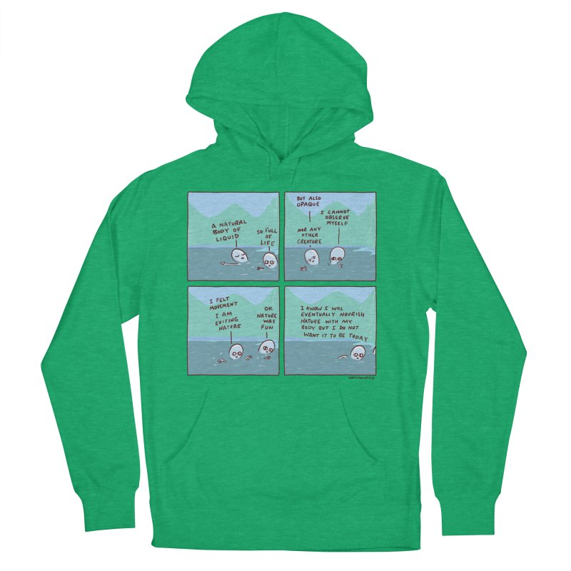 STRANGE PLANET: I AM EXITING NATURE Men's French Terry Pullover Hoody by Nathan W Pyle