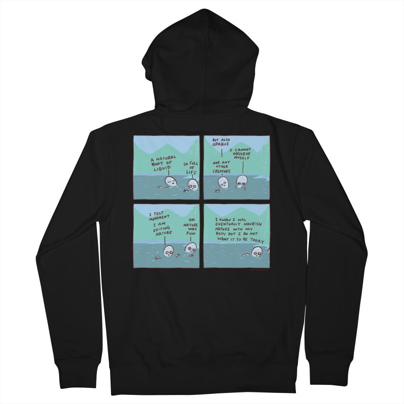 STRANGE PLANET: I AM EXITING NATURE Women's French Terry Zip-Up Hoody by Nathan W Pyle