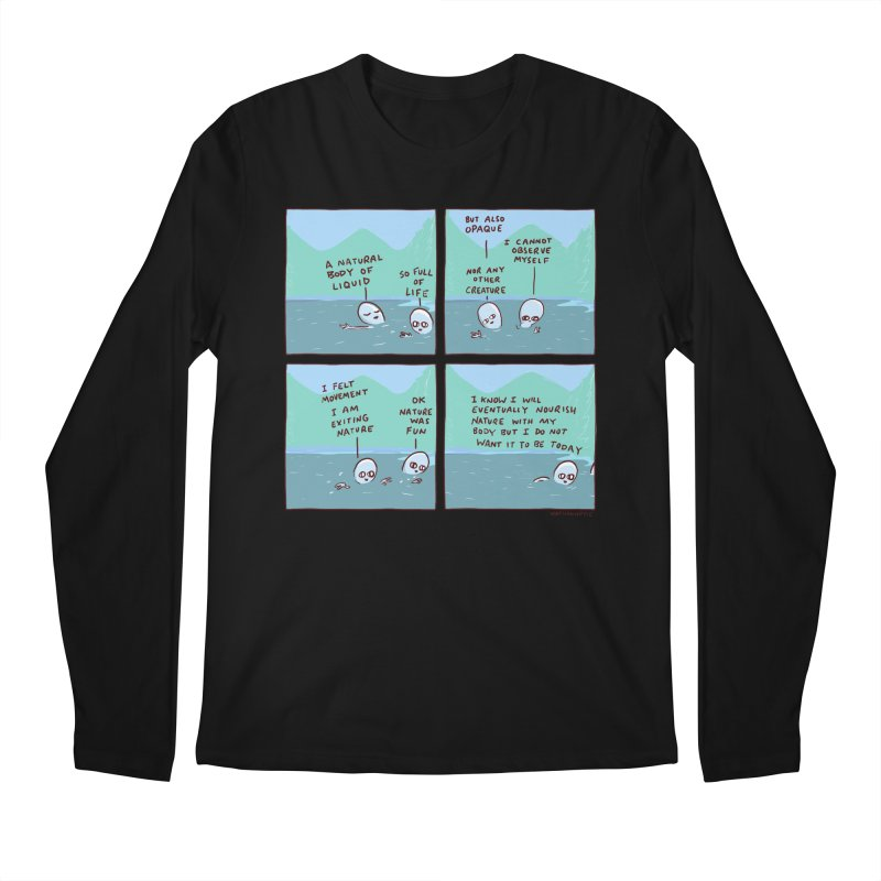 STRANGE PLANET: I AM EXITING NATURE Men's Regular Longsleeve T-Shirt by Nathan W Pyle