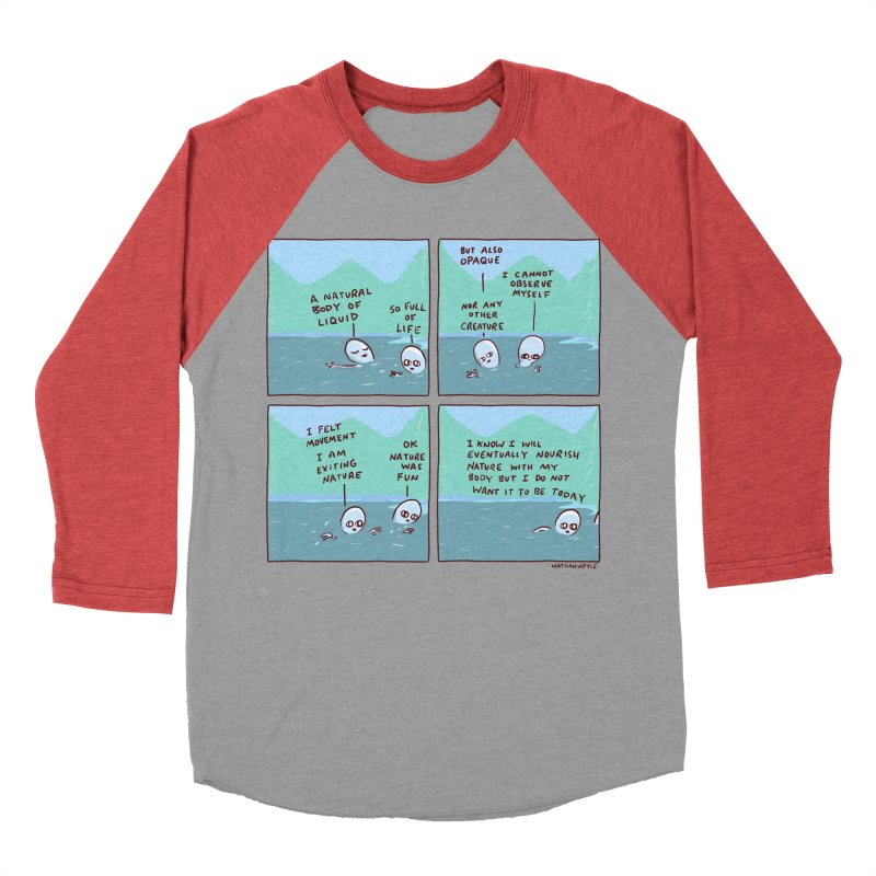 STRANGE PLANET: I AM EXITING NATURE Women's Baseball Triblend Longsleeve T-Shirt by Nathan W Pyle