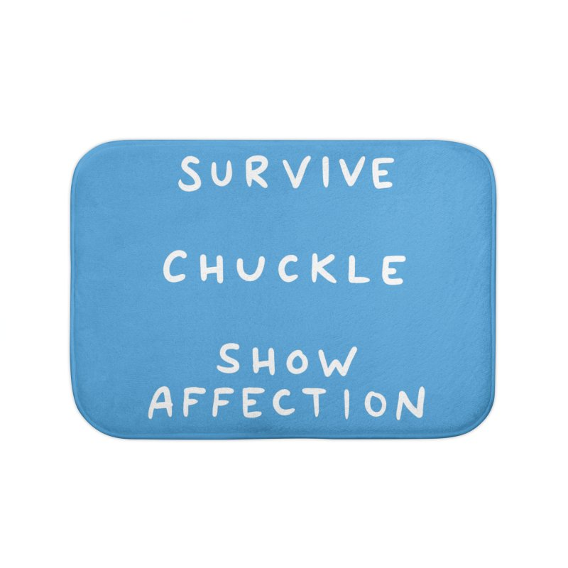 STRANGE PLANET SPECIAL PRODUCT: SURVIVE CHUCKLE SHOW AFFECTION Home Bath Mat by Nathan W Pyle Shop | Strange Planet Store | Thread