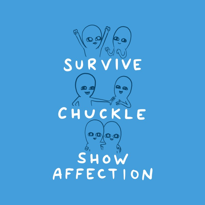 STRANGE PLANET SPECIAL PRODUCT: SURVIVE CHUCKLE SHOW AFFECTION CHARACTERs Accessories Zip Pouch by Nathan W Pyle
