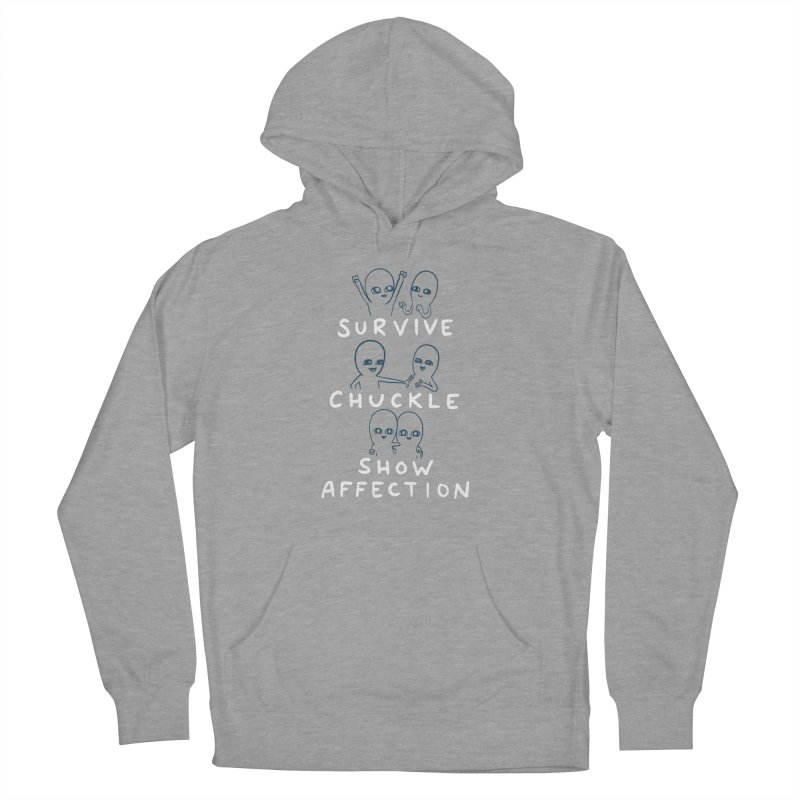 STRANGE PLANET SPECIAL PRODUCT: SURVIVE CHUCKLE SHOW AFFECTION CHARACTERs Men's French Terry Pullover Hoody by Nathan W Pyle