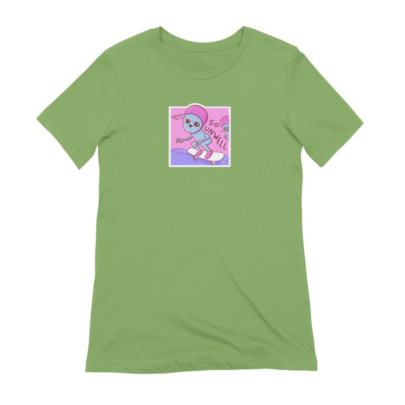 STRANGE PLANET SPECIAL PRODUCT: SMALLER ALTERNATE - SO UNWELL Women's Extra Soft T-Shirt by Nathan W Pyle