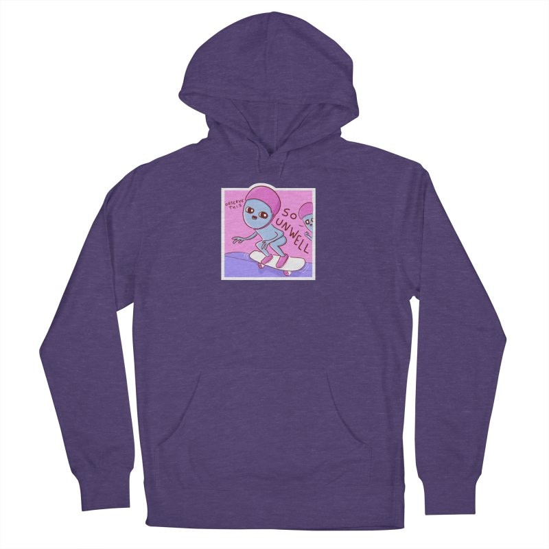 STRANGE PLANET SPECIAL PRODUCT: SMALLER ALTERNATE - SO UNWELL Men's French Terry Pullover Hoody by Nathan W Pyle