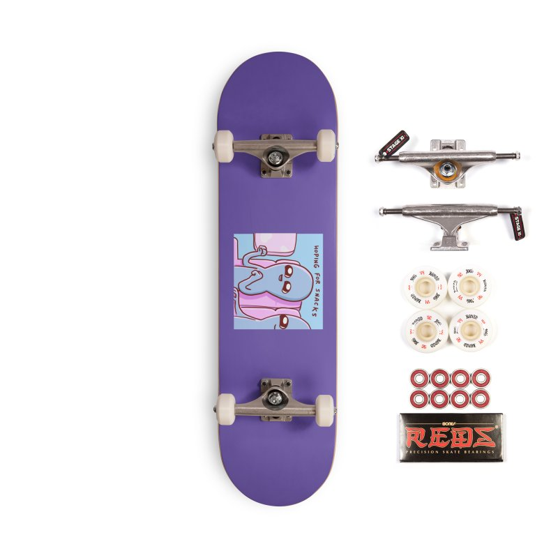 STRANGE PLANET SPECIAL PRODUCT: HOPING FOR SNACKS Accessories Skateboard by Nathan W Pyle