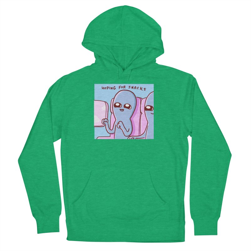 STRANGE PLANET SPECIAL PRODUCT: HOPING FOR SNACKS Women's French Terry Pullover Hoody by Nathan W Pyle
