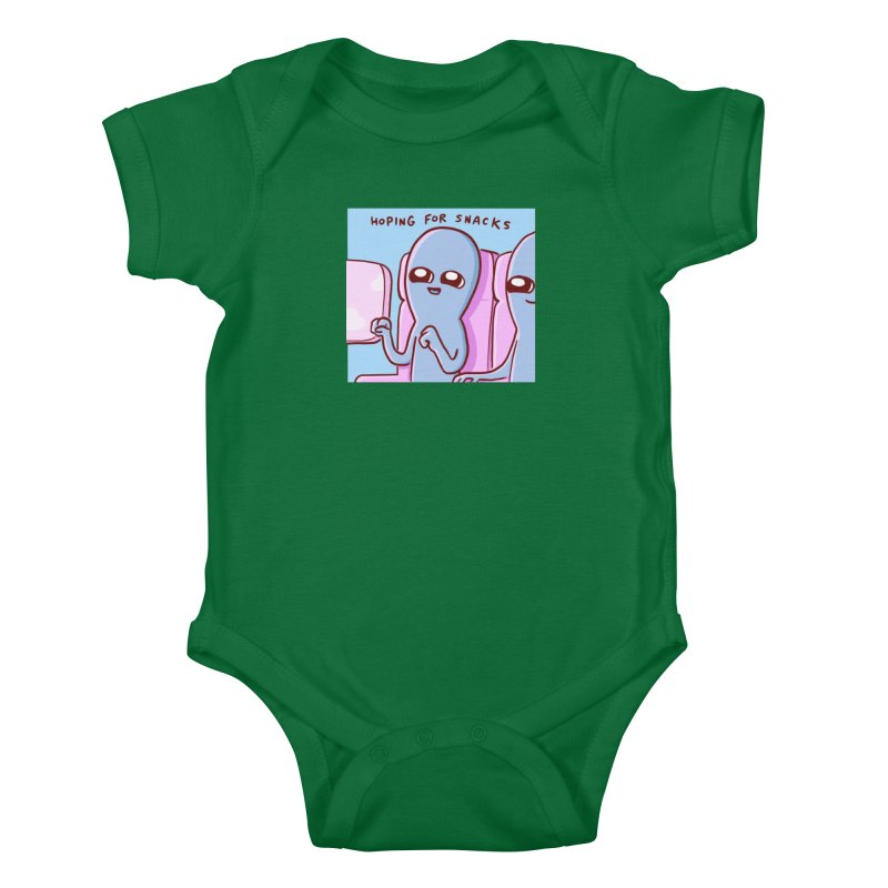 STRANGE PLANET SPECIAL PRODUCT: HOPING FOR SNACKS Kids Baby Bodysuit by Nathan W Pyle