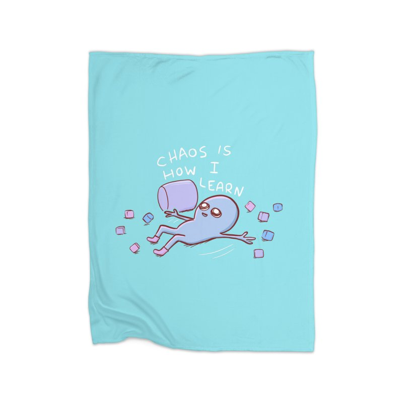 STRANGE PLANET SPECIAL PRODUCT: CHAOS IS HOW I LEARN Home Fleece Blanket Blanket by Nathan W Pyle