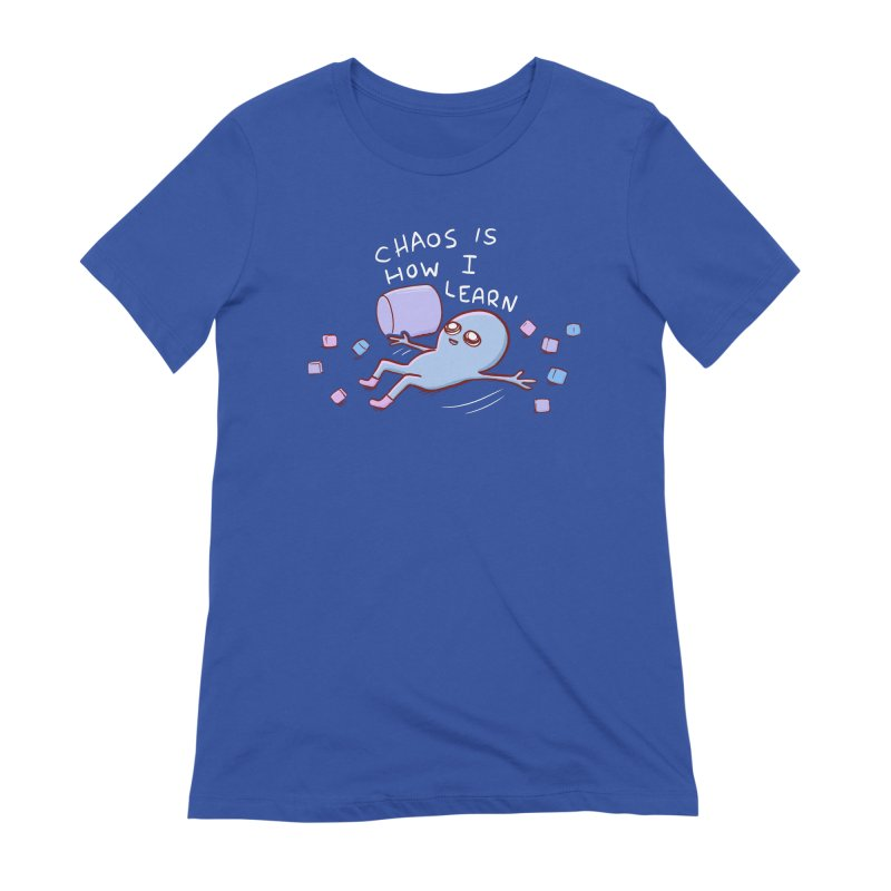 STRANGE PLANET SPECIAL PRODUCT: CHAOS IS HOW I LEARN Women's Extra Soft T-Shirt by Nathan W Pyle