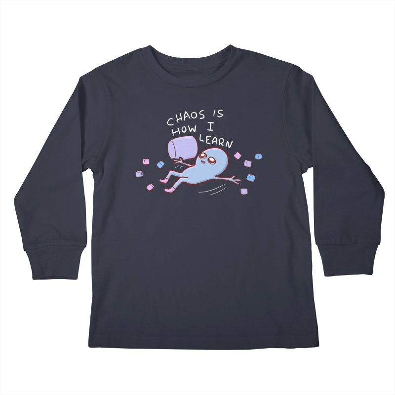 STRANGE PLANET SPECIAL PRODUCT: CHAOS IS HOW I LEARN Kids Longsleeve T-Shirt by Nathan W Pyle