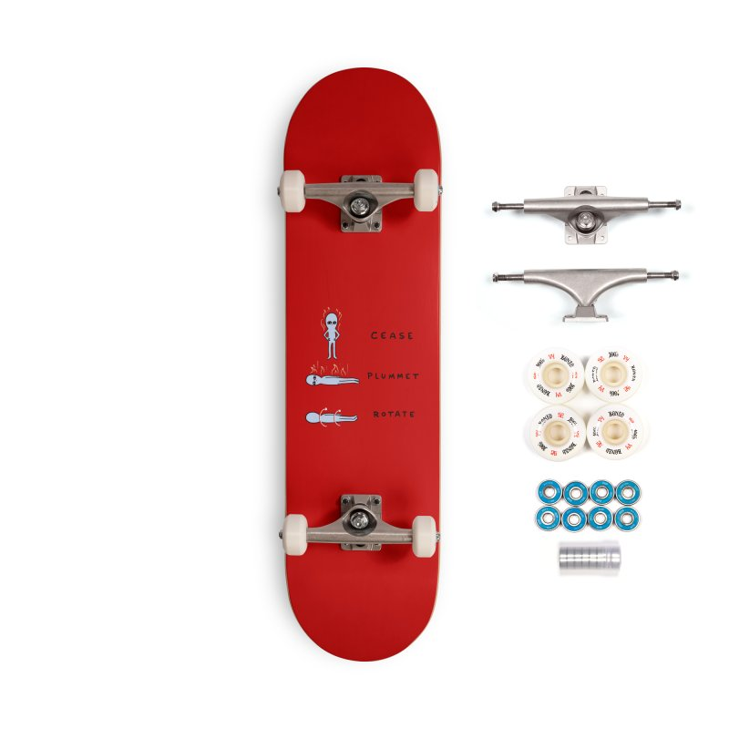 STRANGE PLANET SPECIAL PRODUCT: CEASE PLUMMET ROTATE Accessories Complete - Premium Skateboard by Nathan W Pyle