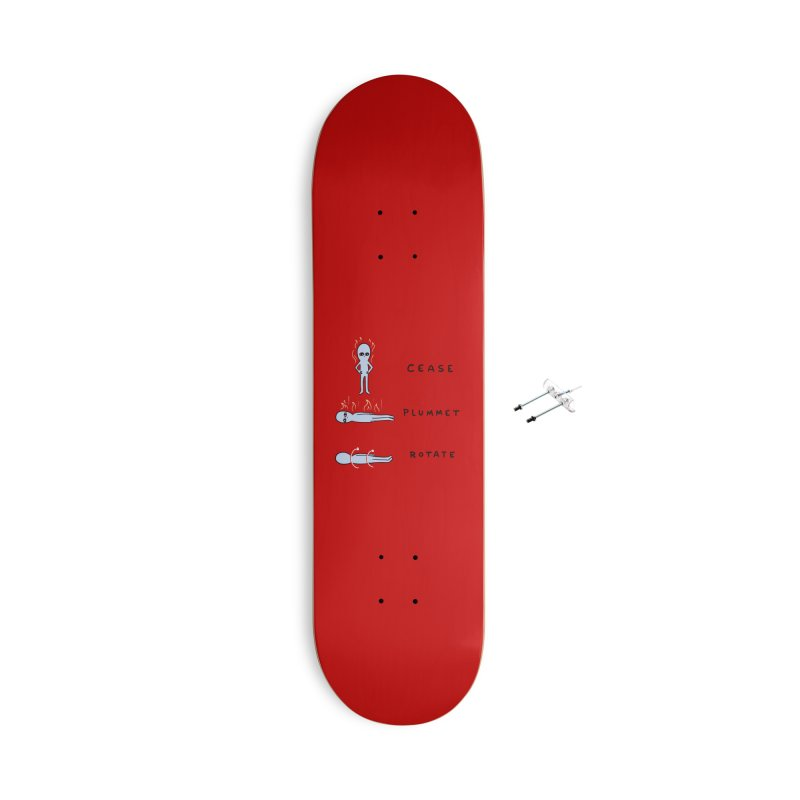 STRANGE PLANET SPECIAL PRODUCT: CEASE PLUMMET ROTATE Accessories With Hanging Hardware Skateboard by Nathan W Pyle