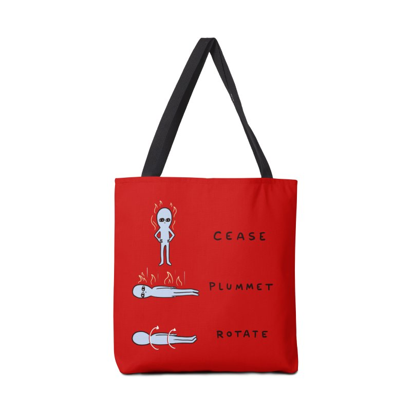 STRANGE PLANET SPECIAL PRODUCT: CEASE PLUMMET ROTATE Accessories Bag by Nathan W Pyle