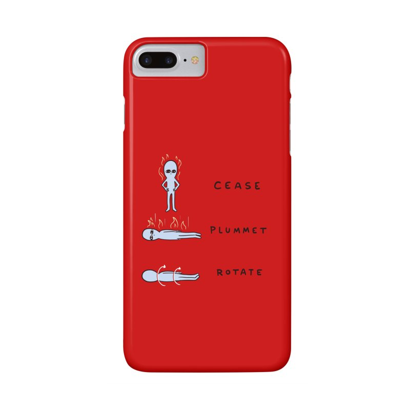STRANGE PLANET SPECIAL PRODUCT: CEASE PLUMMET ROTATE Accessories Phone Case by Nathan W Pyle