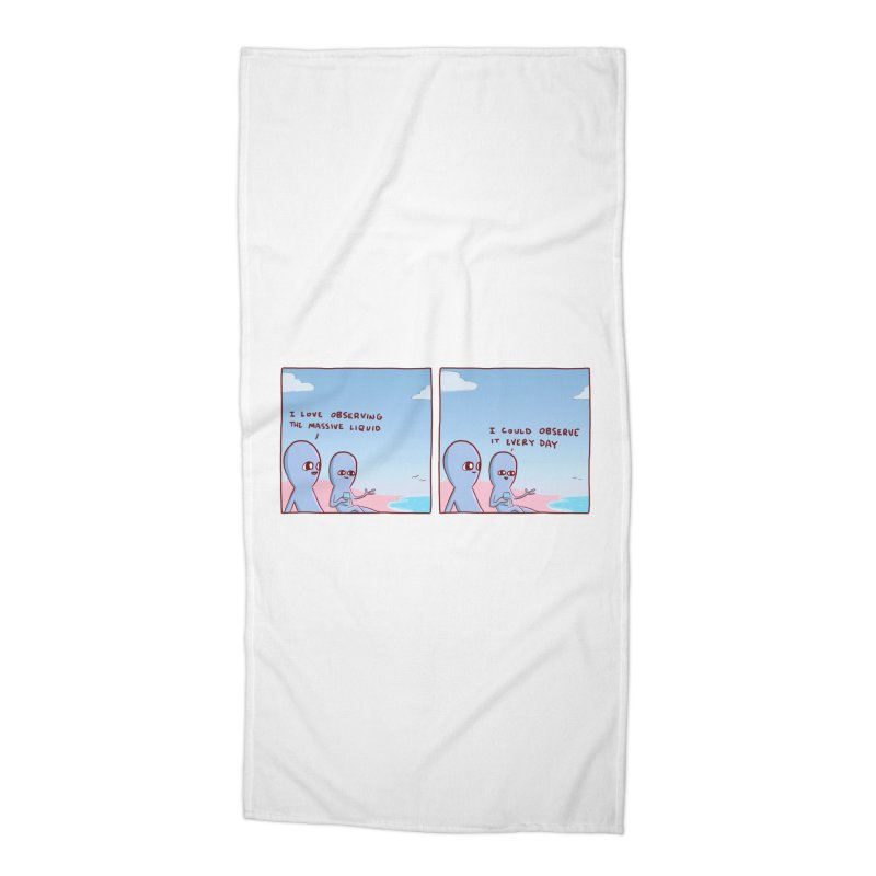 STRANGE PLANET SPECIAL PRODUCT: MASSIVE LIQUID Accessories Beach Towel by Nathan W Pyle