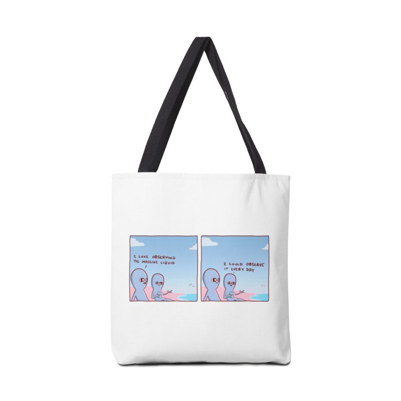 STRANGE PLANET SPECIAL PRODUCT: MASSIVE LIQUID Accessories Tote Bag Bag by Nathan W Pyle