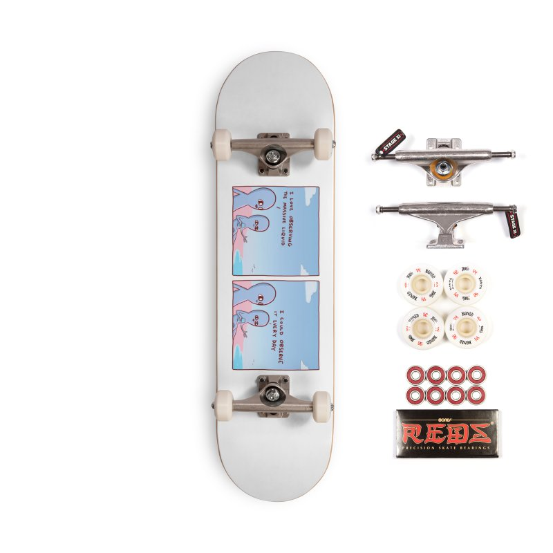 STRANGE PLANET SPECIAL PRODUCT: MASSIVE LIQUID Accessories Complete - Pro Skateboard by Nathan W Pyle
