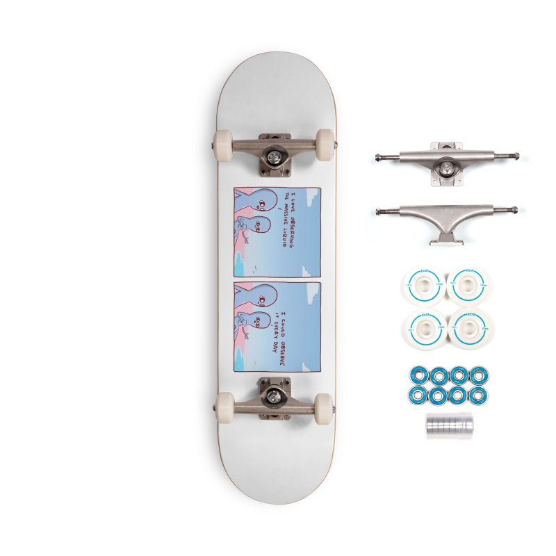 STRANGE PLANET SPECIAL PRODUCT: MASSIVE LIQUID Accessories Complete - Basic Skateboard by Nathan W Pyle