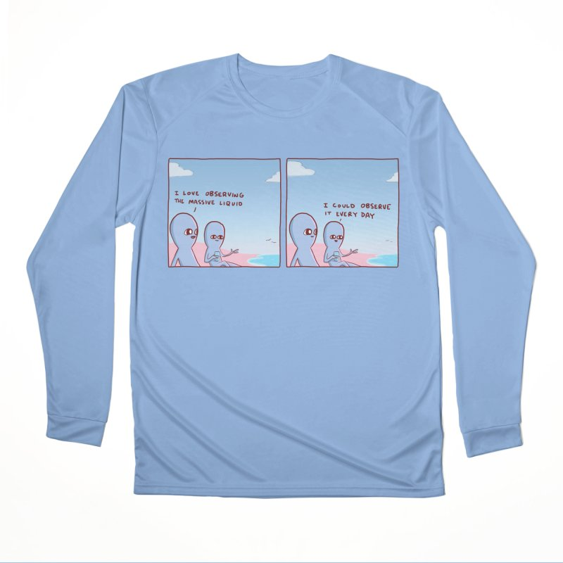 STRANGE PLANET SPECIAL PRODUCT: MASSIVE LIQUID Men's Performance Longsleeve T-Shirt by Nathan W Pyle