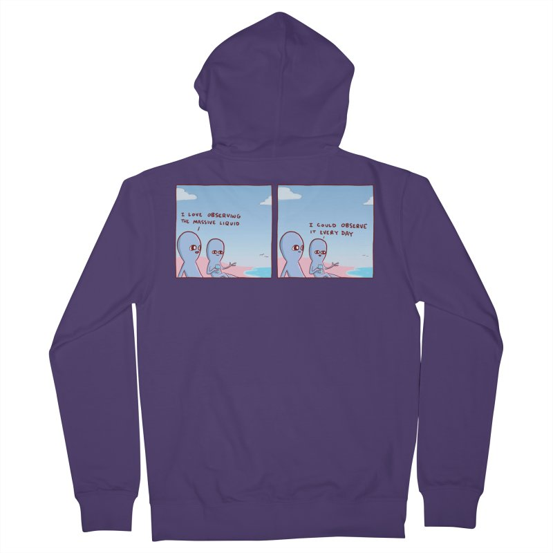 STRANGE PLANET SPECIAL PRODUCT: MASSIVE LIQUID Women's French Terry Zip-Up Hoody by Nathan W Pyle