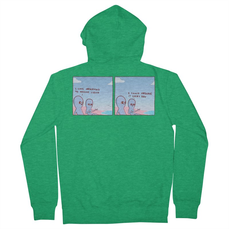 STRANGE PLANET SPECIAL PRODUCT: MASSIVE LIQUID Men's Zip-Up Hoody by Nathan W Pyle