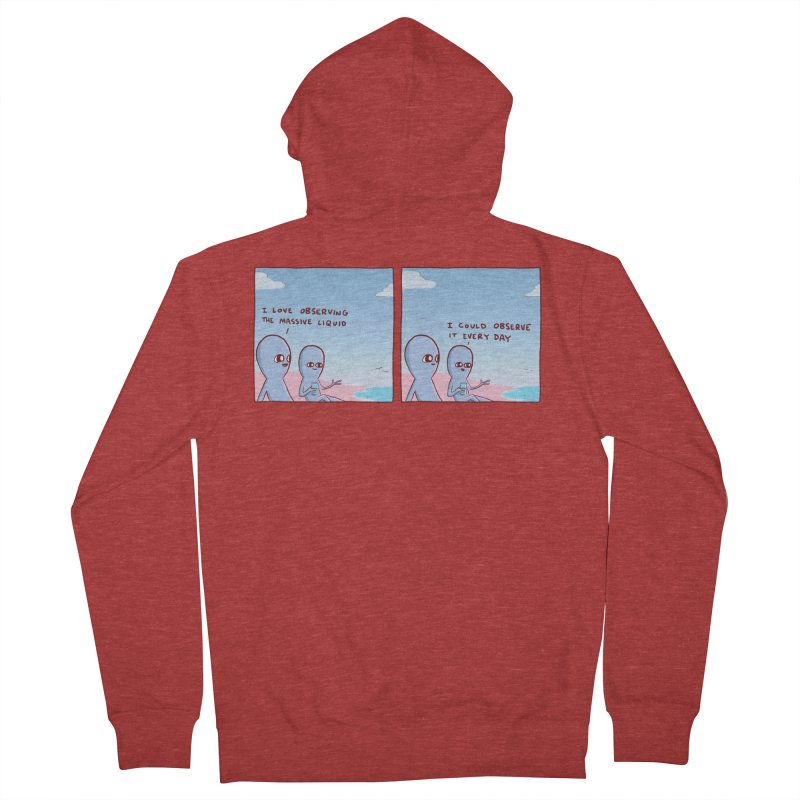 STRANGE PLANET SPECIAL PRODUCT: MASSIVE LIQUID Men's French Terry Zip-Up Hoody by Nathan W Pyle
